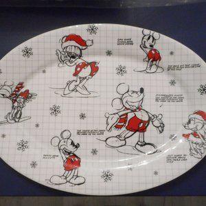 Disney Mickey & Minnie Christmas Sketchbook Plate